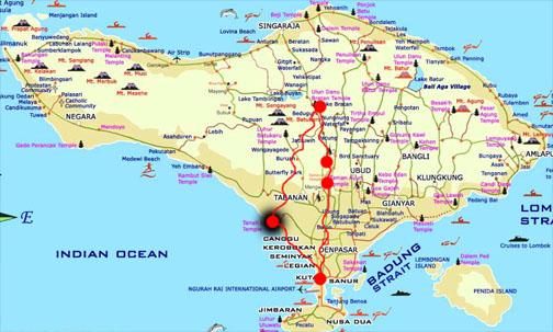 tanah lot temple map