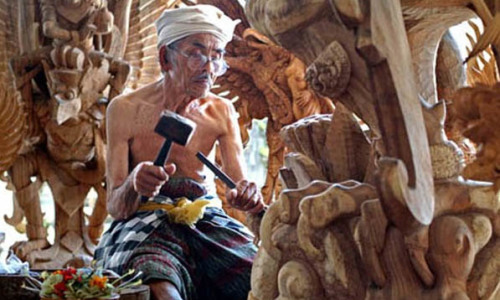 Balinese Wood Carving Mas Village