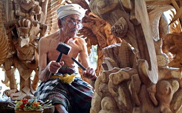 Balinese Wood Carving Mas Village
